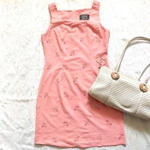 Vintage Mini Light Pink Sleeveless Dress